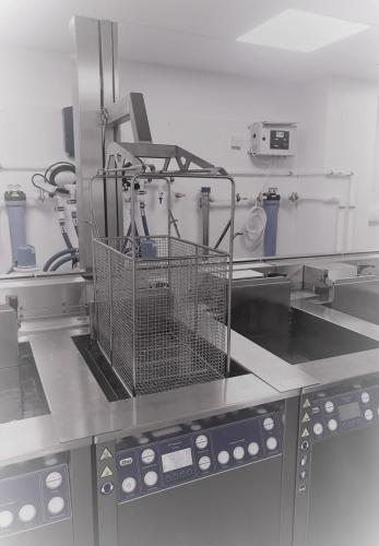 The cleaning process enables us to clean individual parts or large batches