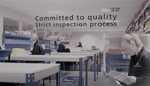 Quality inspection on all production batches